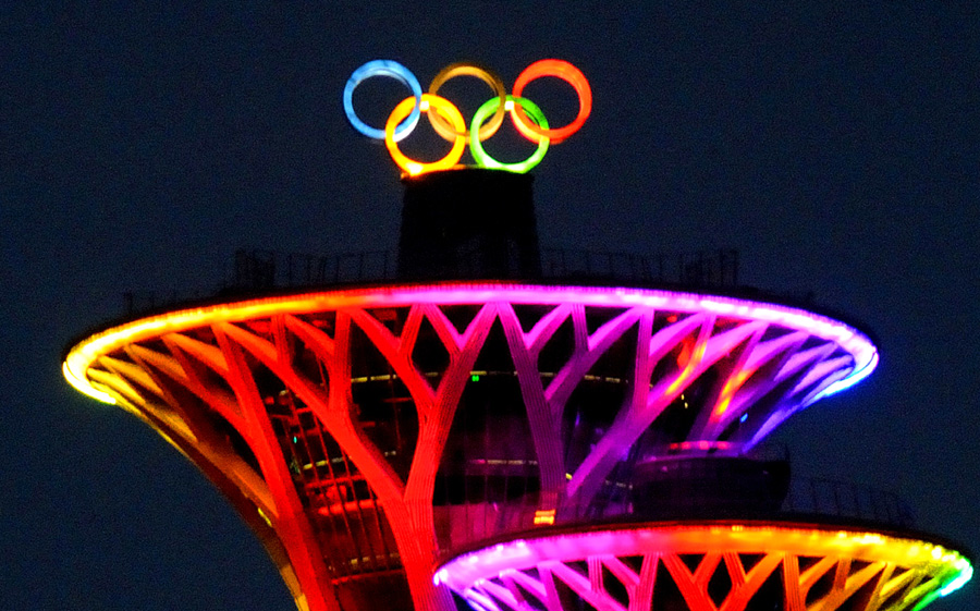 Permanent Olympic Symbol Marks Beijings New Landmark7 Chinadaily