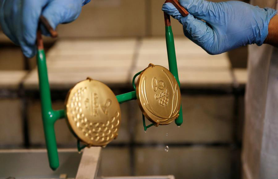 Rio 2016 Olympic medals under preparation