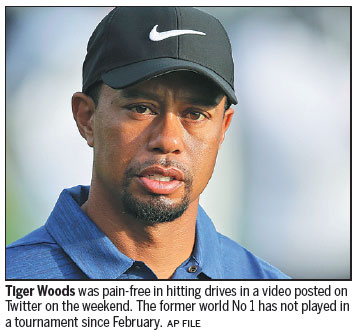 Tiger tentatively returning to the swing of things