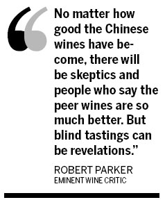 Parker smells potential in China's wines