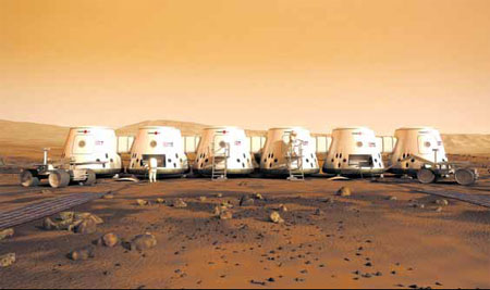 SpaceX Mars Colony - Pics about space