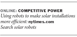 Robots to the aid of solar farming
