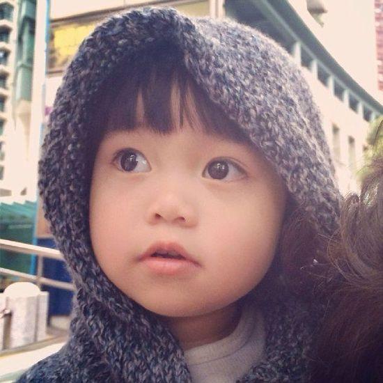 中国混血的可爱宝贝