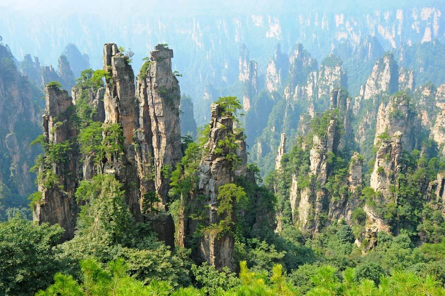 Zhangjiajie, located in Hunan province, is ...