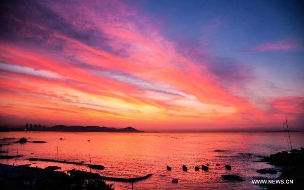 sunrise scenery in qingdao 1 chinadaily com cn
