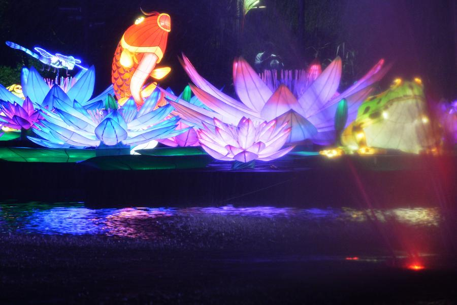 mid autumn festival lights shine at singapores gardens by the bay