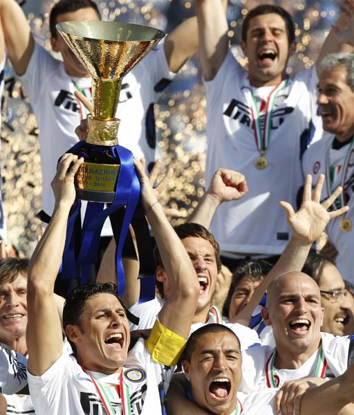 意甲米利托绝际米兰五连冠