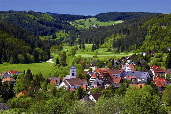 Germany's Black Forest: a popular holiday destination[1]