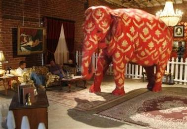 Pink Elephants Star In La Art Show