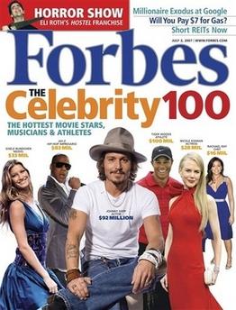 Forbes Celebrity 100 - Wikipedia