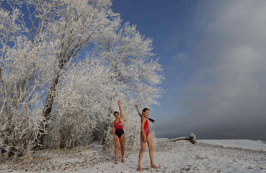 Winter swimming in Siberia[1]