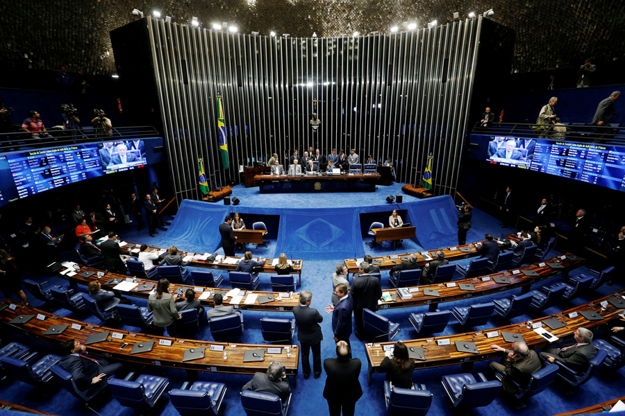 Brazil's Senate begins Rousseff's impeachment trial