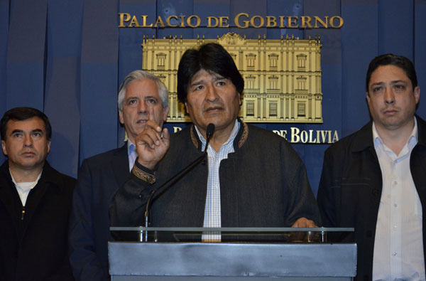 Bolivian president says government defeats
