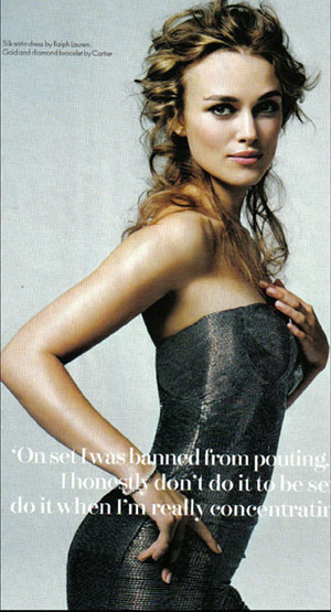 Keira Knightley posed naked for Vanity Fair with hairy legs,