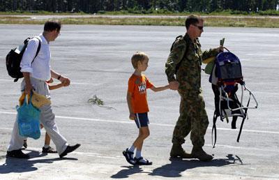 Australian troops in East Timor