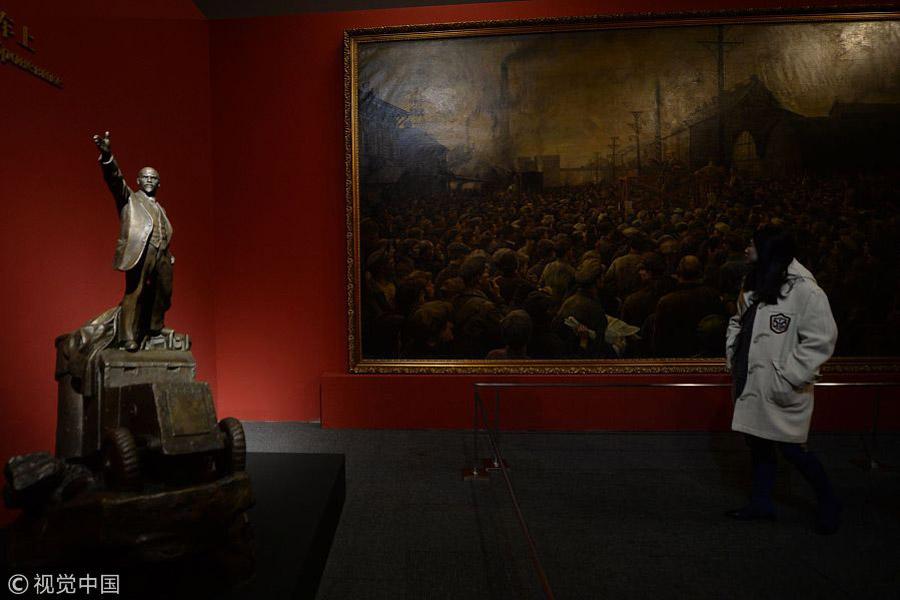 D Exhibition China : Beijing holds exhibition marking october revolution