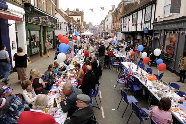 Royal Wedding Street Parties Held Across Britain