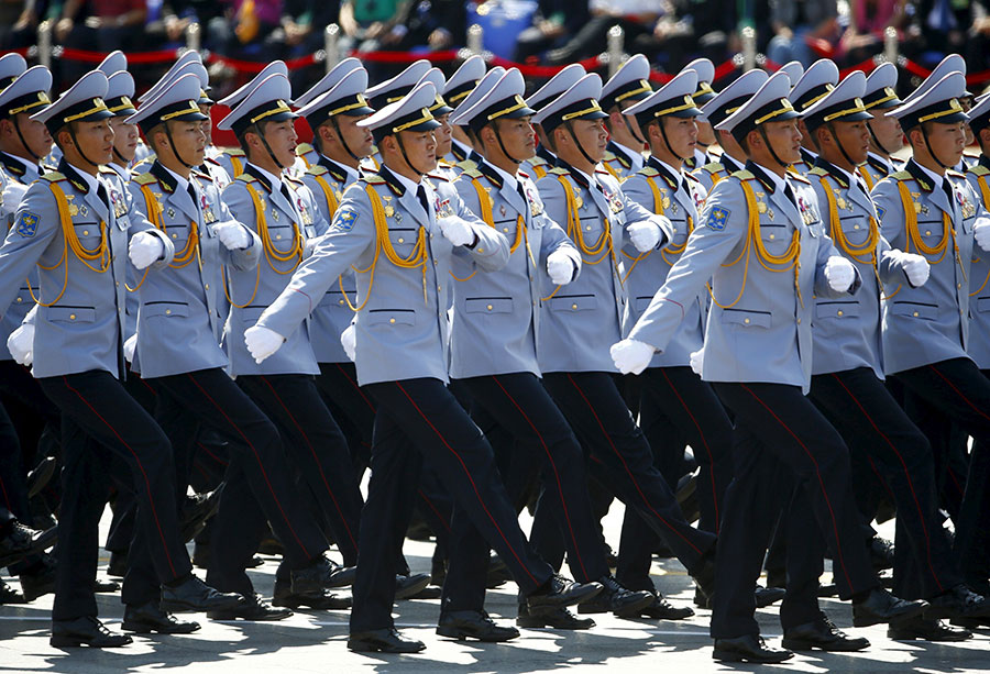 Mongolian Army Parade Foreign troops ...