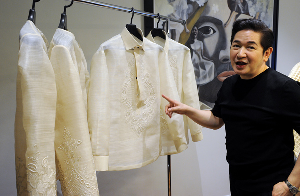 President Dons Traditional Philippine Attire World Chinadaily Com Cn
