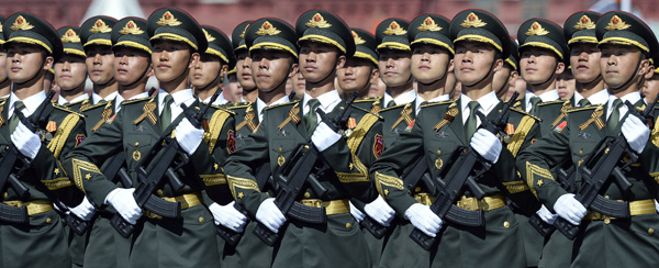 Red Square march an honor for PLA