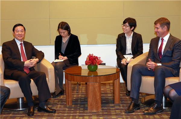 赌博游戏:刘奇葆会见新南威尔士州总理