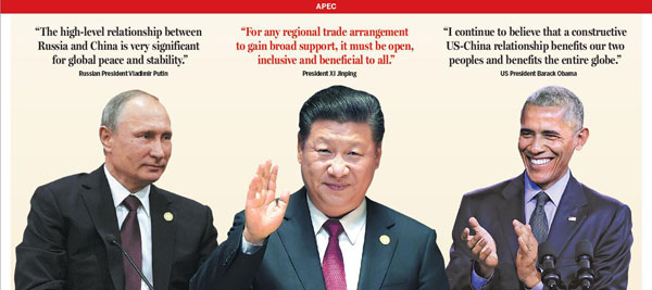 Xi: Asia-Pacific needs inclusive trade