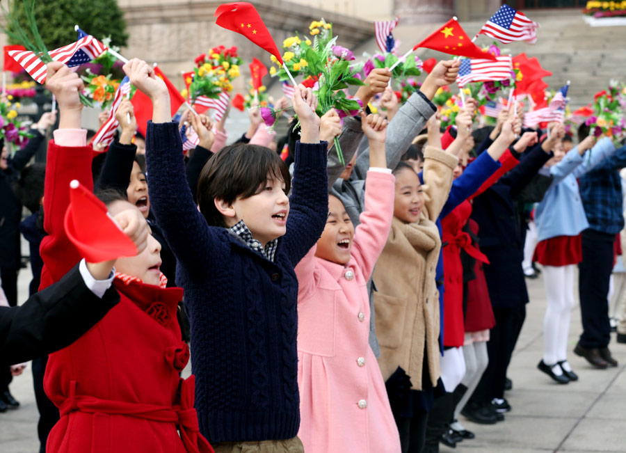 Children go wild for Trump (China Daily)