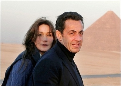 Carla and Sarko on holiday in Egypt.