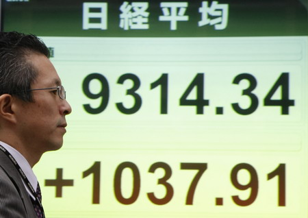 Asian stocks soar after US rally; Nikkei up 13 - auntynn - 远程英语空中学习