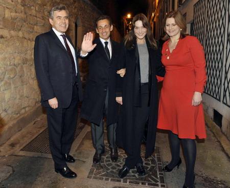 nicolas sarkozy wife. Nicolas Sarkozy (2nd L)