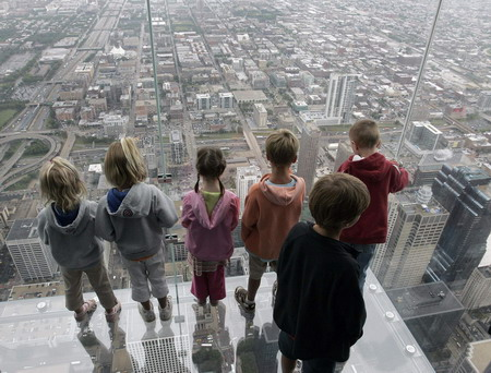 View from Chicago's 'Ledge' gets more dizzying