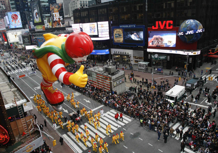 Macy's Thanksgiving day parade in New York