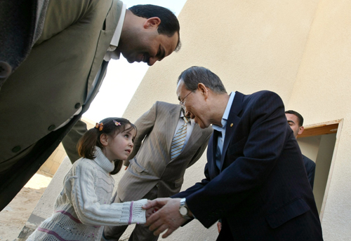 UN chief Ban Ki-moon arrives in Gaza