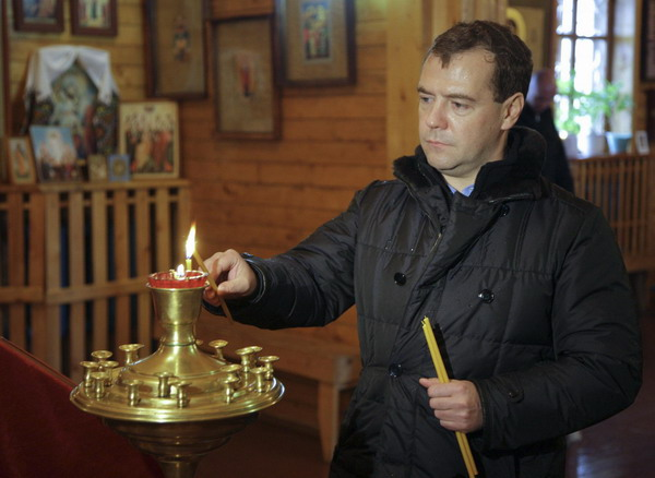 Medvedev visits Kuril Islands, vows to improve local living