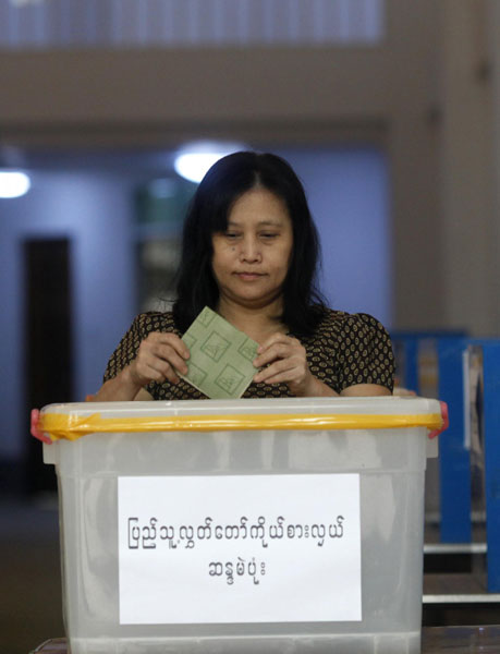 Parliamentary by-elections begins in Myanmar