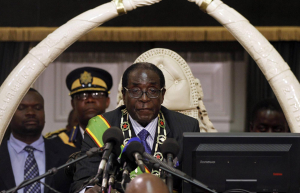 Mugabe calls for peace ahead of Zimbabwe elections