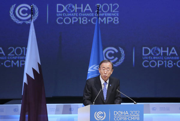 Doha climate talks reach weak commitment by rich nations