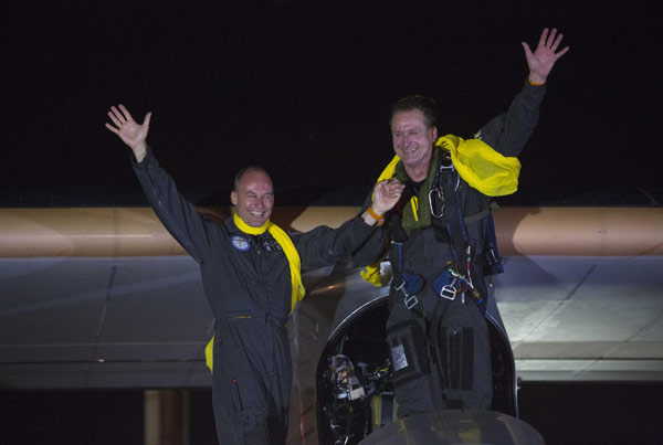 Solar plane lands in NY, completing journey