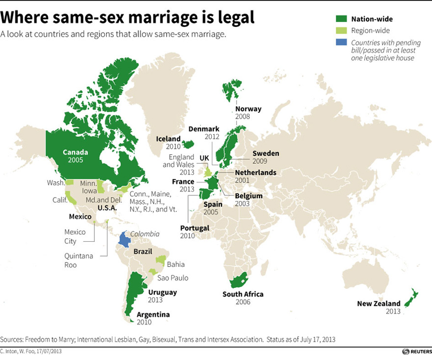 Same- marriage gaining attention | |chinadaily.com.cn on map of europe, map of oceans, map of canada, map of united kingdom, map of hemispheres, map of world, map of africa, map of continents, map of germany, map of philippines, map of romania, map of states, map of greece, map of bangladesh, map of mexico, map of brazil, map of asia, map of country, map of italy,