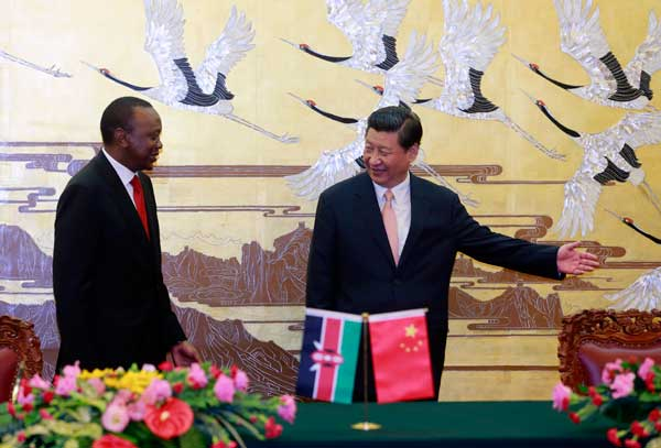 China, Kenya agree to bolster relations