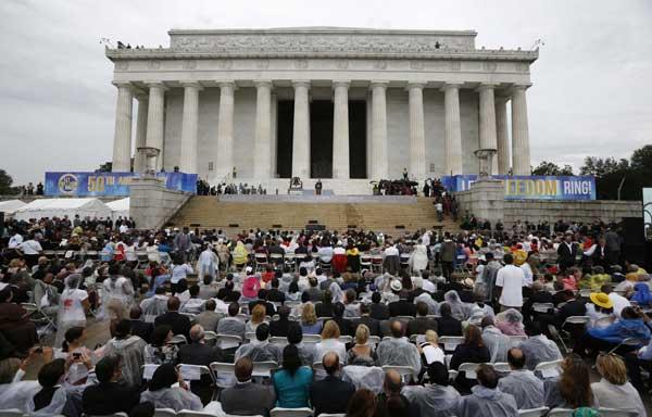 Obama Marchers Mark 50 Yrs Since King S Dream Speech 1
