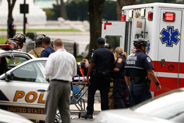 Gunfire forces brief lockdown at US Capitol in Washington