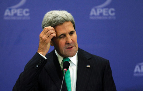Kerry calls shutdown a brief disruption
