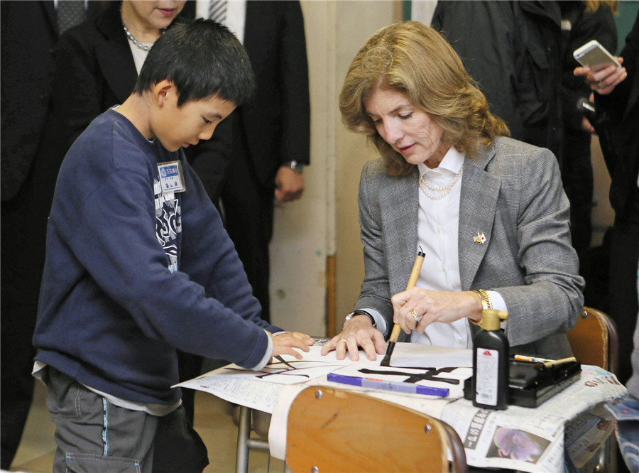 Caroline Kennedy Visits Japan S Disaster Struck Regions 1