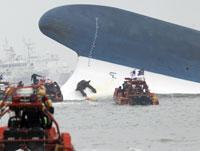 South Korean ferry sinks off south coast