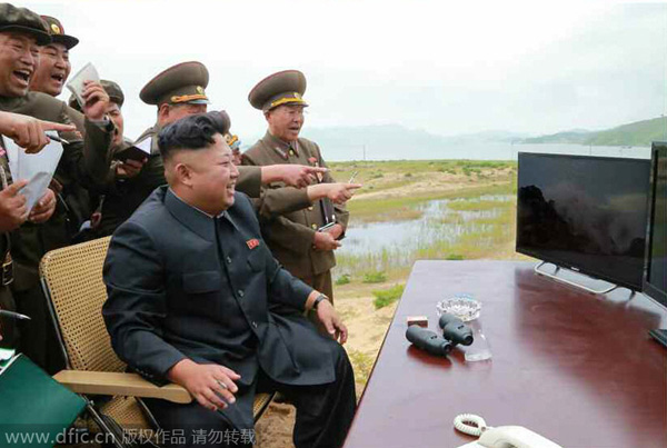 DPRK leader guides test-fire of tactical rocket