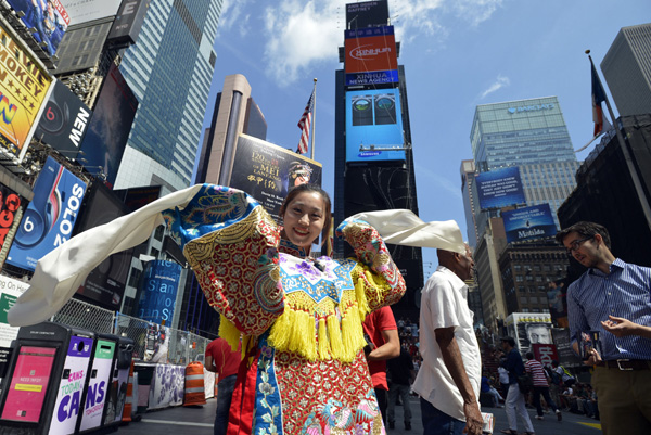 A Legend To Commemorate: Performance In Times Square To Commemorate Beijing Opera