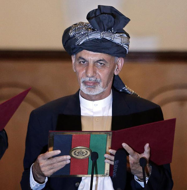 New Afghan president heads to China