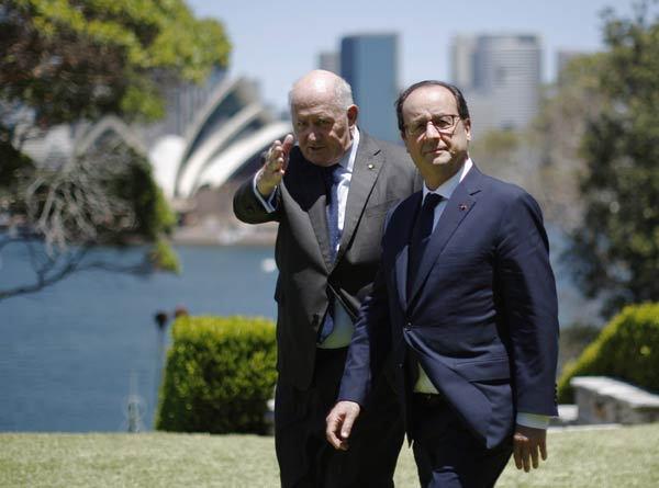 French president arrives in Sydney for official visit