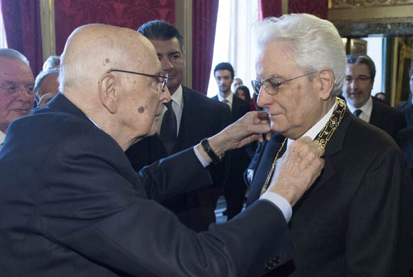 Italy's new president gets unanimous welcome[